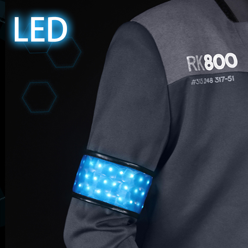 Game Detroit: Become Human Connor RK800 LED Accessories for Halloween
