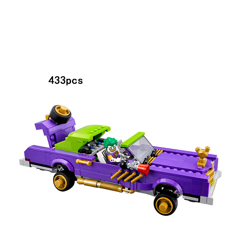 DC comics super heroes batman The Joker Notorious Lowrider car building block Harley Quinn Batgirl figures 70906 toys for kids loz dc comics super heroes mini diamond building block batman