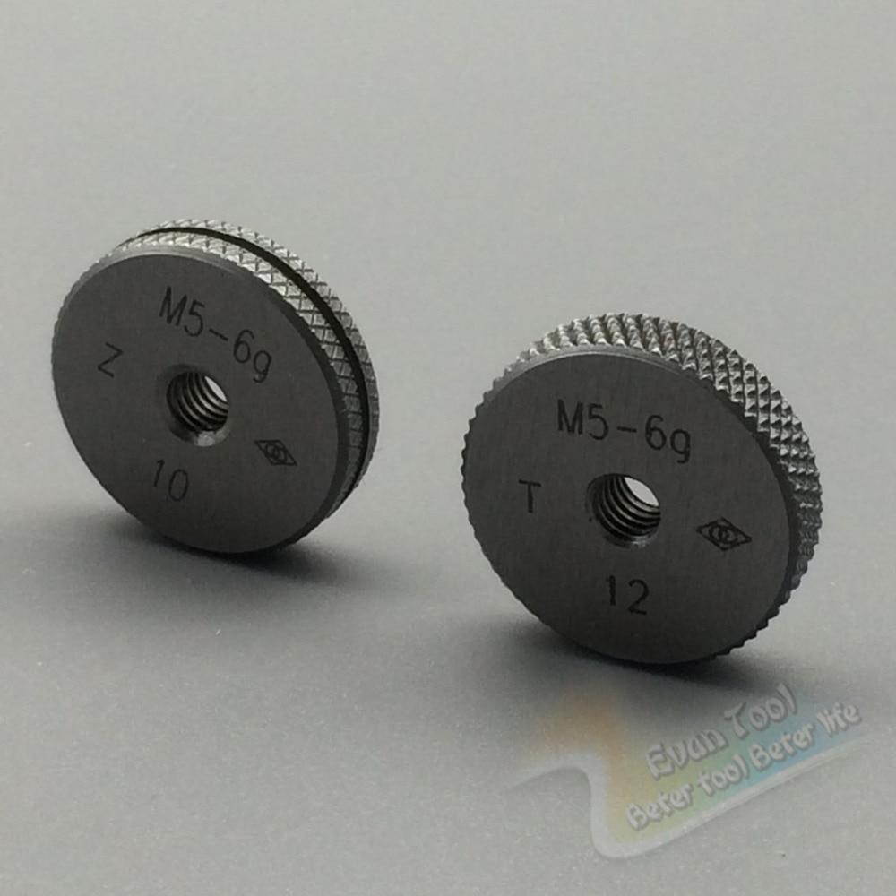 T+Z  M5-6g metric thread ring gage gauge tools(set of 2 ) for detecting a standard diameter of external thread  цены