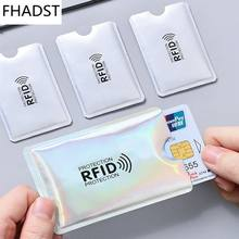 5 pcs Anti Rfid Blocking Reader Lock Bank Card Holder ID Bank Card Case Rfid Protection Metal Credit Card Holder Aluminium OT003(China)
