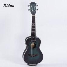 Diduo Acoustic Electric Concert Ukulele 23 Inch Hawaiian Guitar 4 Strings Ukelele Guitarra Mahogany Handcraft Green Musical Uke