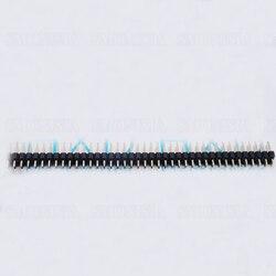 100 PCS 5000 PCS Pin Header podwójna podstawa dwa rzędy 2.54mm rozstaw 2*40 P proste szpilki|pin header|pin header doublepin pin -
