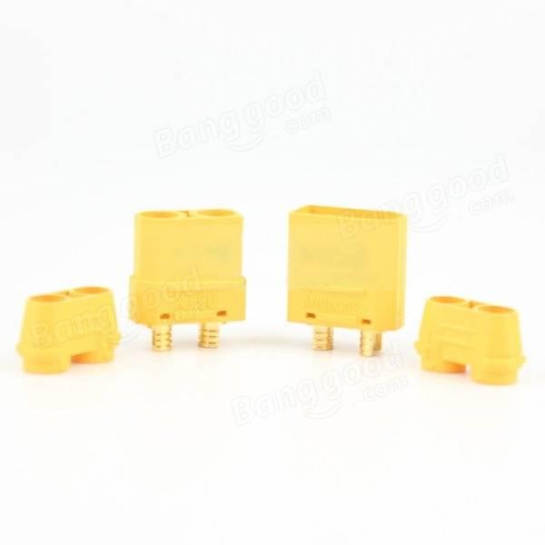 Amass XT90+ Plug Connector With Sheath 1 Pair