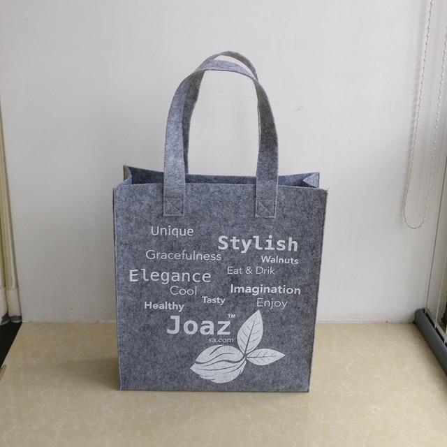 39be0d9160 wholesale 500pcs lot Size 35x30x10cm Custom Eco Reusable Felt Fabric shopping  bags Luxury Clothes