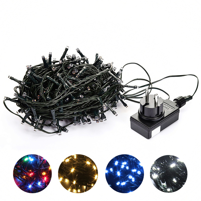 10M 20M 30M 100M Waterproof LED Fairy String Lights Garland Christmas Party Wedding Xmas Holiday Lights Outdoor Home Decoration zinuo 30m 50m 100m led garland ac110v 220v fairy string waterproof christmas lights outdoor for xmas wedding decoration