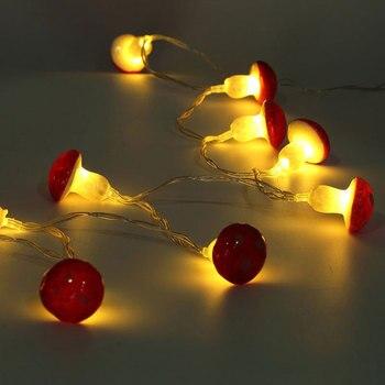 Lámpara LED de tira de seta de 2 metros y 30 pulgadas con caja de batería, Lámpara decorativa para fiestas de jardín, cable en miniatura para el hogar, regalo para niños