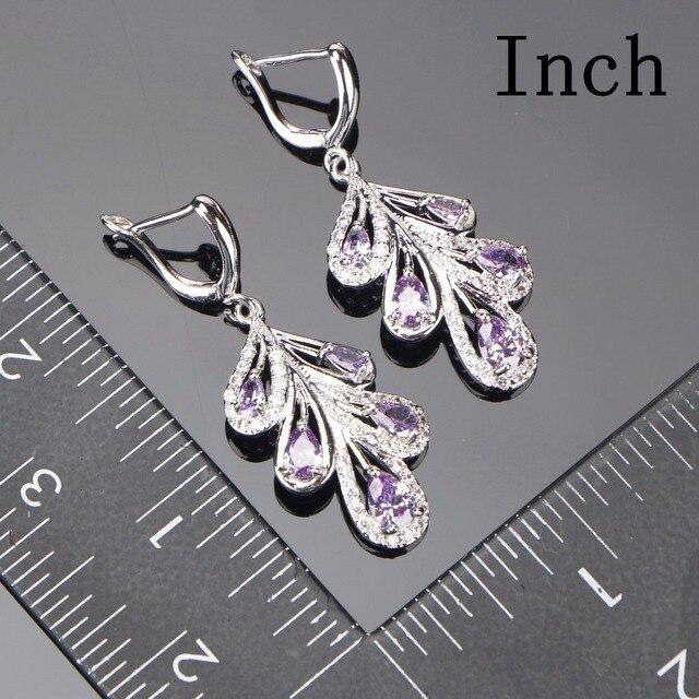 Bridal Purple Jewelry Sets For Women 2