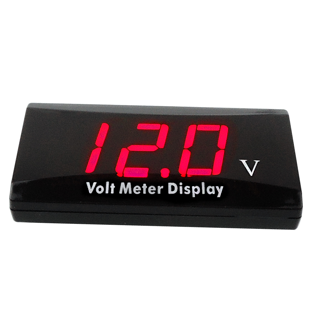 Ultra-thin DC 8-16.0V Red LED Display Meter Car MINI Digital Voltmeter Panel