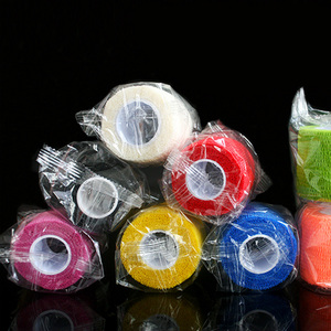 Image 4 - 10Pcs Waterdichte Beveiliging Zelfklevende Samenhangend Verband Elastische Wrap Ehbo Sport Body Gaas Dierenarts Medische Tape