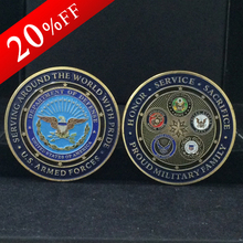 5pcs/lot USA Military Family Armed Force Metal coins American souvenir coin for Commemorative gift Challenge Coin free shipping