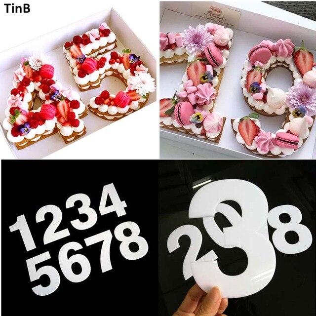 Plastic Acylic Number Cake Mold Cake Decorating Tool Birthday Cake