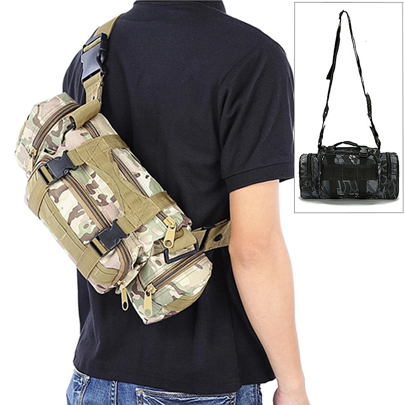Outdoor Military Waist Bag Tactical Waterproof Molle Camping And Hiking Bakcpack Pouch Multifunctional Fishing Handbag Bolsa