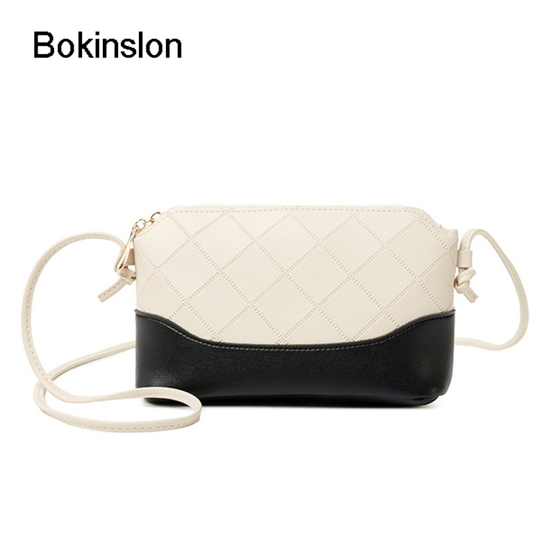 Bokinslon Shoulder Bags For Women Fashion PU Leather Woman Crossbody Bag Solid Color Spiraea Women Brand Popular Bags charming pvc women platform sandals 17cm super high heels waterproof female transparent crystal wedding shoes sandalia feminina