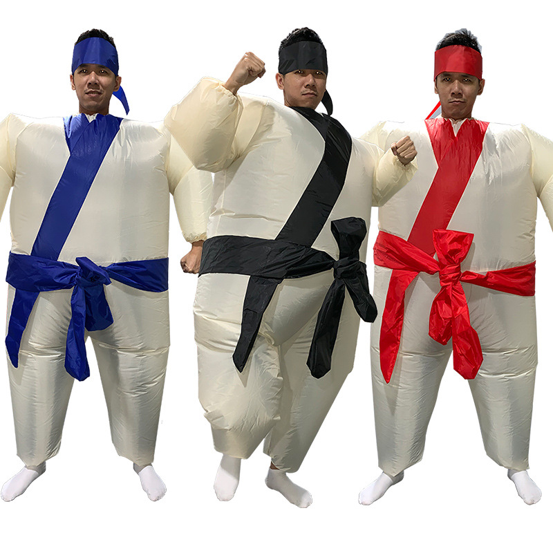 3 Colors Adult Sumo Inflatable Costume One Size Christmas Halloween Party Clothes Carnival Adultos Cosplay Full Body Outfit