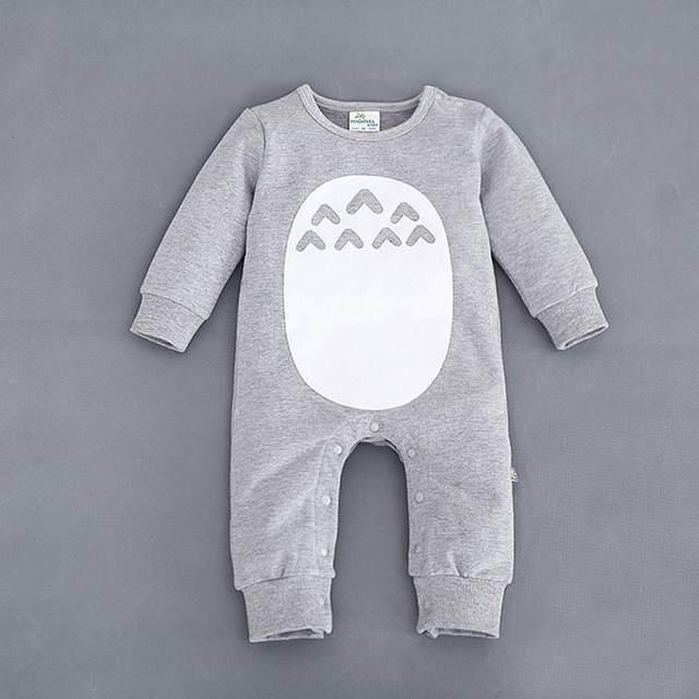 34d4ab1865ae placeholder 2018 Fashion Cute Animal Romper Cartoon Big Eyes Unisex Baby  Clothes Rabbit Newborn Baby Jumpsuit Ropa