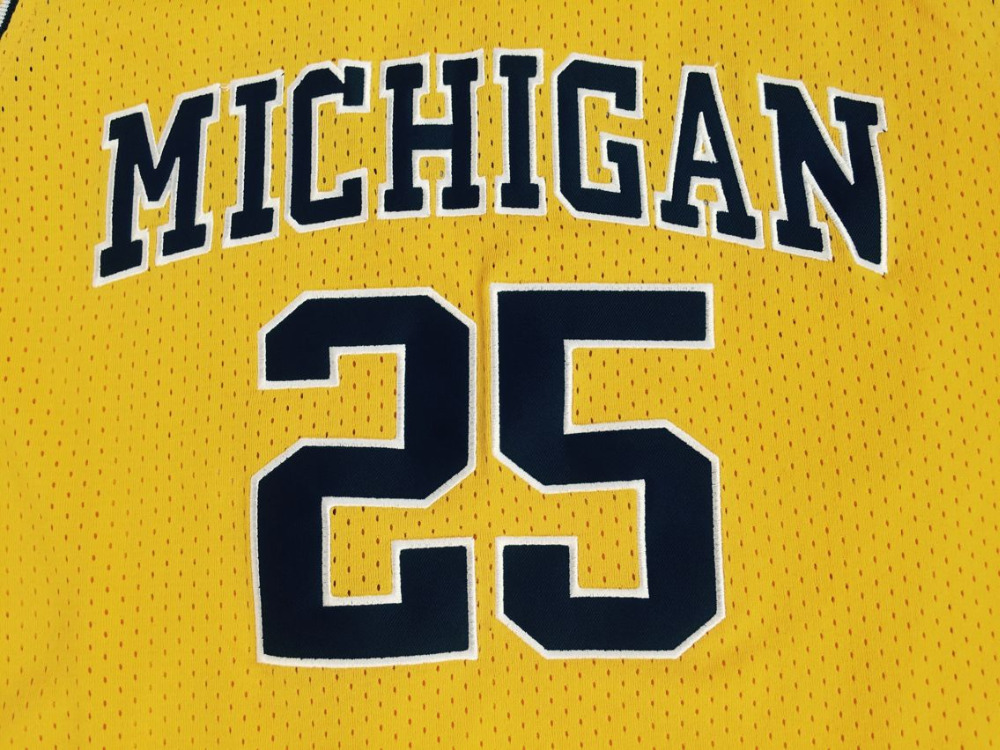 Viva Villa Juwan Howard Jersey 25 Michigan College Wolverines Throwback Stitched Commemorative Basketball Jersey All stitched