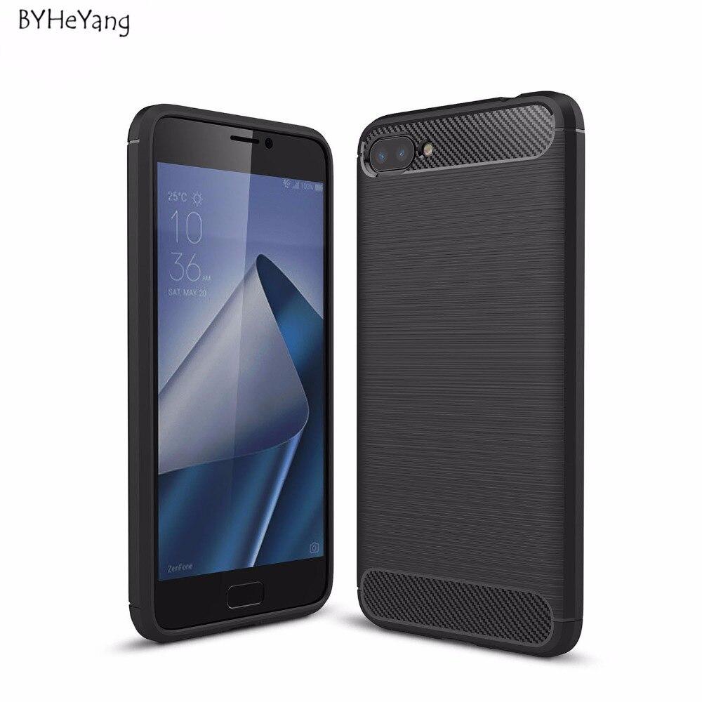 Byheyang для Asus Zenfone 4 Max zc554kl углерода Волокно силиконовые матовый кожи ультра тонкий чехол для Asus Zenfone zc554kl крышка