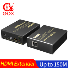 цена на HDMI Extender over Cat5e Cat 6 IP TCP signal HDMI to Ethernet Lan Converter 1080p HDMI Transmitter Receiver TX RX 60M 120M 150 M
