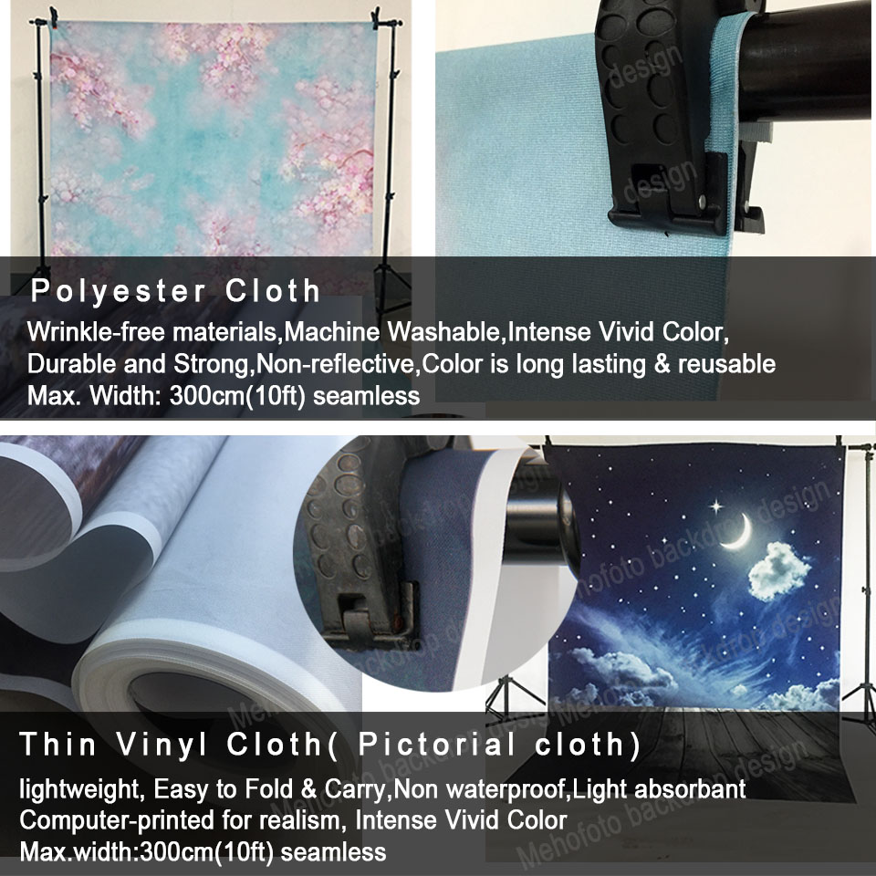 Polyester and vinyl(mehofoto logo)