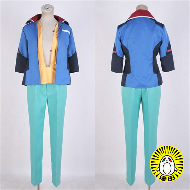 Free shipping Cartoon Anime GUNDAM SEED DESTINY Cosplay Auel Neider Cos Woman Man Halloween Party Cosplay Costume image