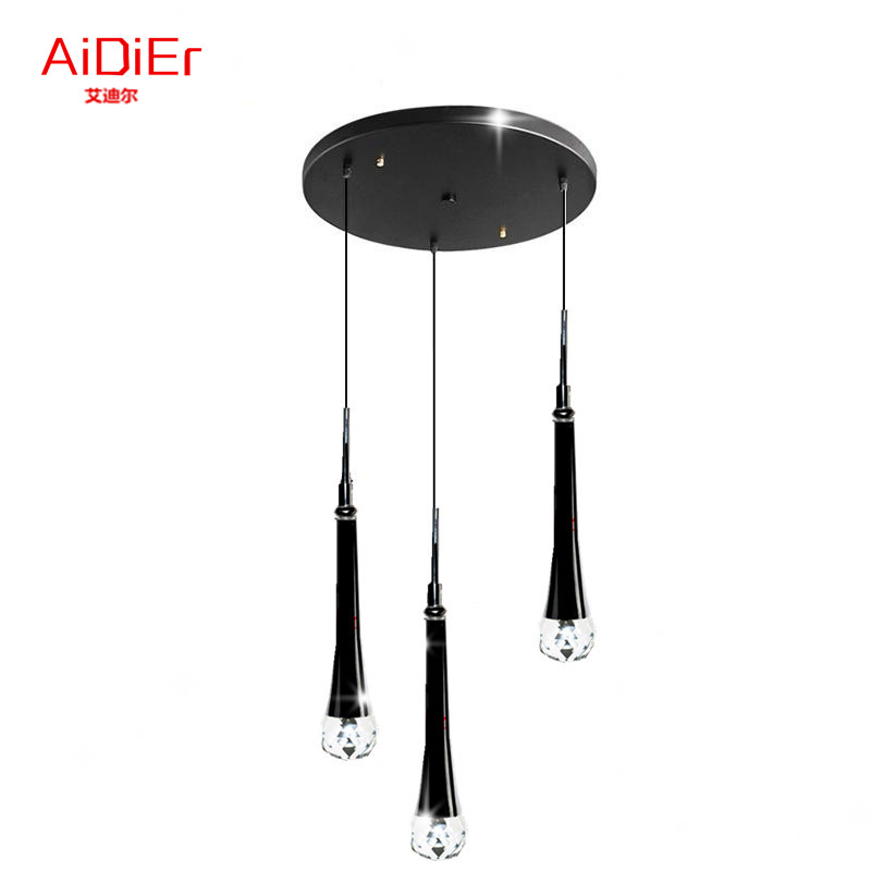 Modern LED Crystal Pendant Lights Bedroom Restaurant Lamps