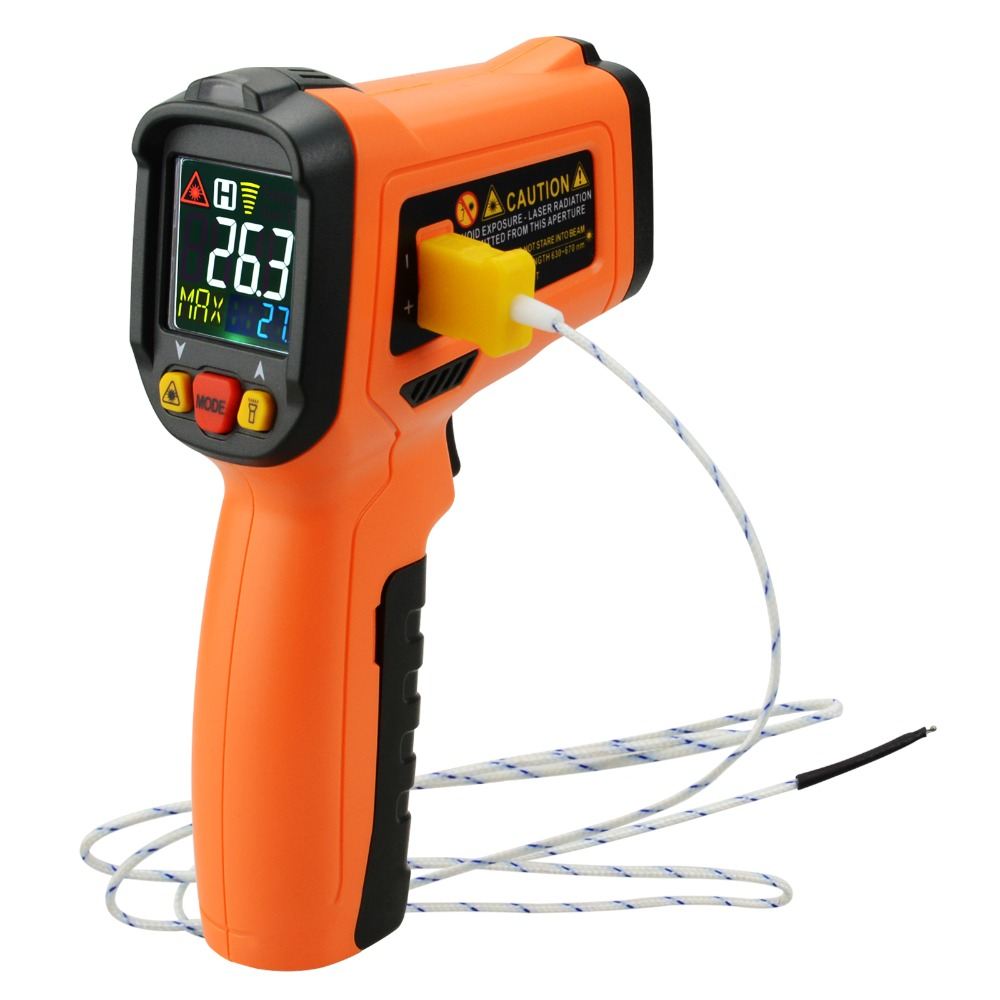 US $40 9 |Non contact Infrared IR Laser Thermometer K Type Thermocouple  50~800degC/ 58~1472degF Digital Display UV Light Gun Type Meter-in  Temperature