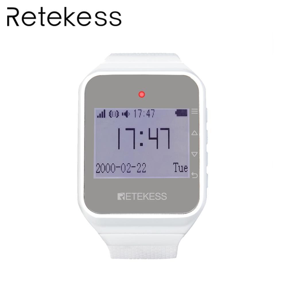 RETEKESS TD108 2019 NEW Smart Wireless Watch Receiver For wireless calling system Restaurant pager Equipment Customer
