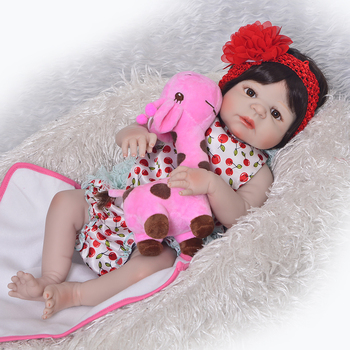 57cm Babies Doll For Girls Realistic Reborn Baby Doll For Kids 23inch adorable  Playmate bathe menina bonecas doll for sale