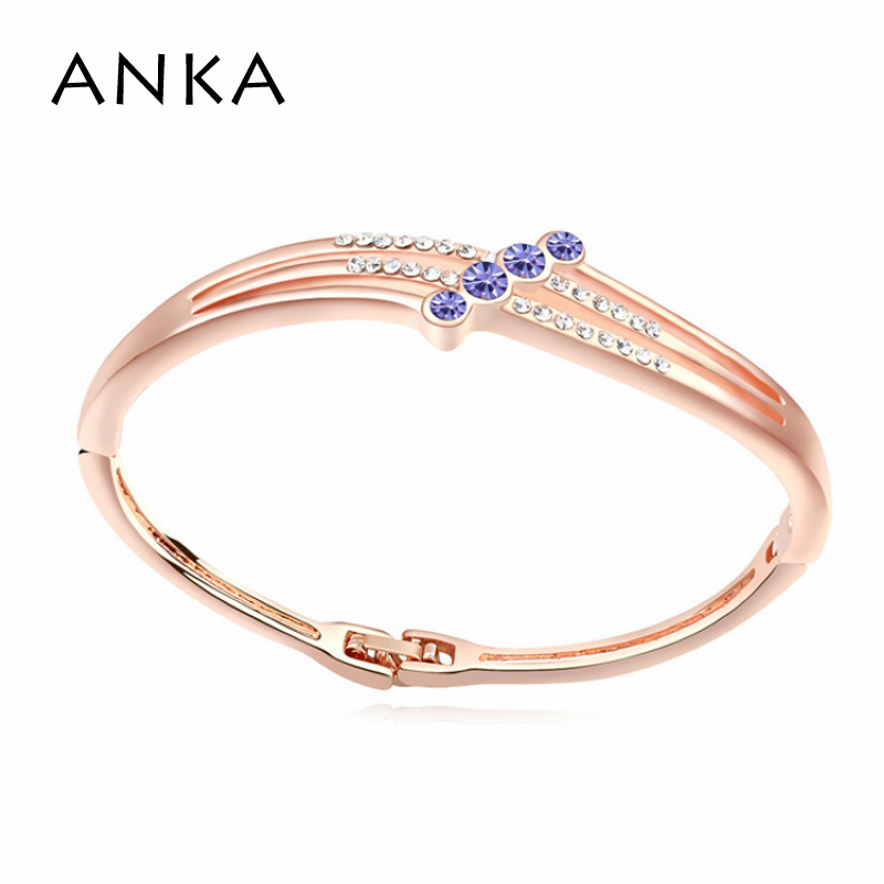Pulseiras Top Fashion Special Offer Bracelets For Women Jewelry 2017 Rose Gold Color Fashion Rhinestone Bangle #107863