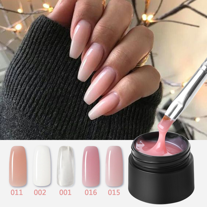 MSHARE UV Builder Gel Nail Camouflage Clear Nude Acrylic Poly Gel Quick Extension Polygel Extended Nails French Nail Thick Resin Силиконы