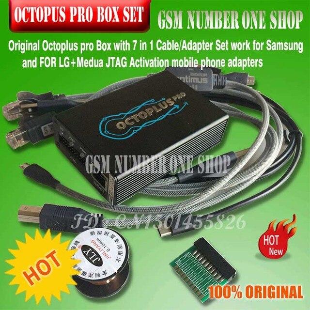 מקורי חדש octoplus Box Pro + 5 כבל סט לסמסונג עבור LG + EMMC/JTAG הופעל (8 ב 1 set)