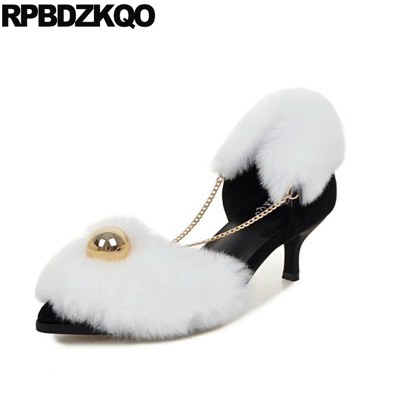 Genuine Leather Medium White Designer Thin Metal Suede Sandals Pointed Toe Pumps High Heels Fur Luxury Brand Shoes Women 2014 new designer black women fsahion zipper sandals pumps sotf suede leather shoes commodities trading platform cheap sandals