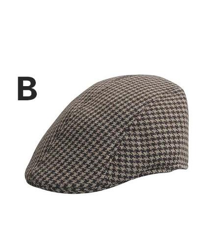 Английский стиль, однотонные весенне-зимние шапки для мужчин и женщин, модные уличные унисекс пляжные солнцезащитные шапки, новые повседневные мужские береты - Цвет: B