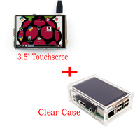 Nouvel écran tactile LCD TFT 3.5 d'origine pour Raspberry Pi 3 modèle B Board + étui acrylique + stylet