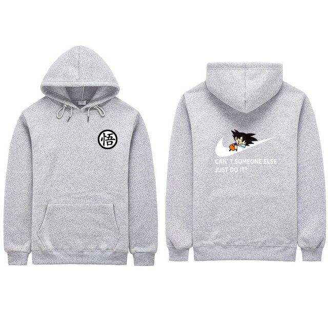Dragon Ball Z Men Goku Just Do It Print Sweatshirts Hoodie