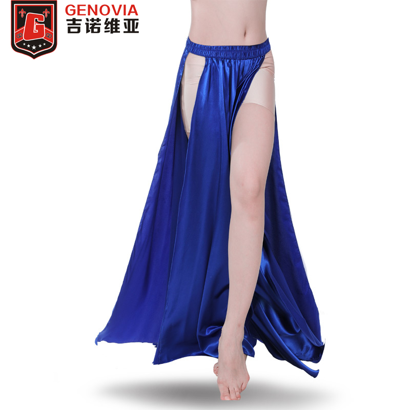 Performance Belly Dance Costume Saint Skirt 2-sides Slits Skirt Sexy Women Oriental Belly Dance Skirt Female Dance Clothes