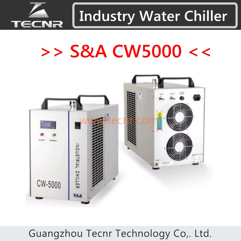 TECNR S&A CW5000 Industry Water Coole Chiller for CO2 Laser Machine Cooling 80W 100W Laser Tube cw5000 industry air water chiller for co2 laser engraving cutting machine cooling 80w 100w laser tube