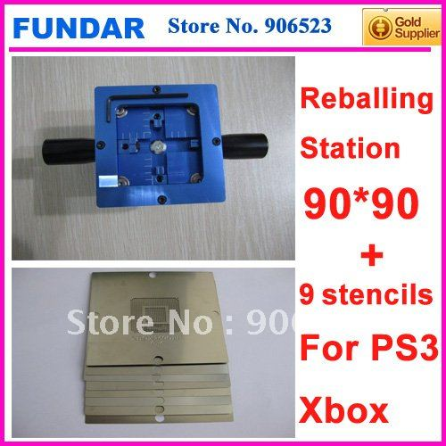 Free shipping Factory  sale KF-10 BGA reballing rework station with 5pcs PS3 plugs 4pcs XBOX game consoles chip stencils