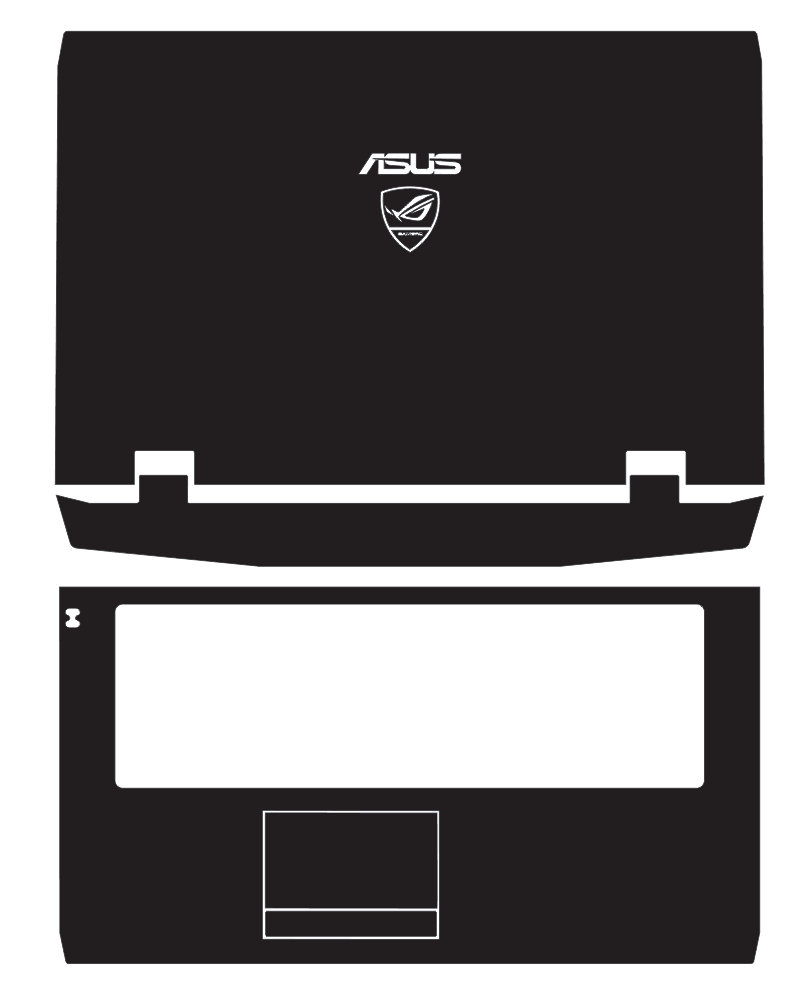 Laptop Carbon Fiber Vinyl Skin Sticker Cover For ASUS G73 G73JW G73JH G73SW 17.3-inch