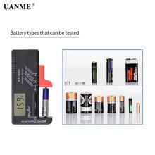 UANME BT-168D Portable Digital Battery Tester Black Digital Battery Power Measuring Instrument The Function Battery Tester