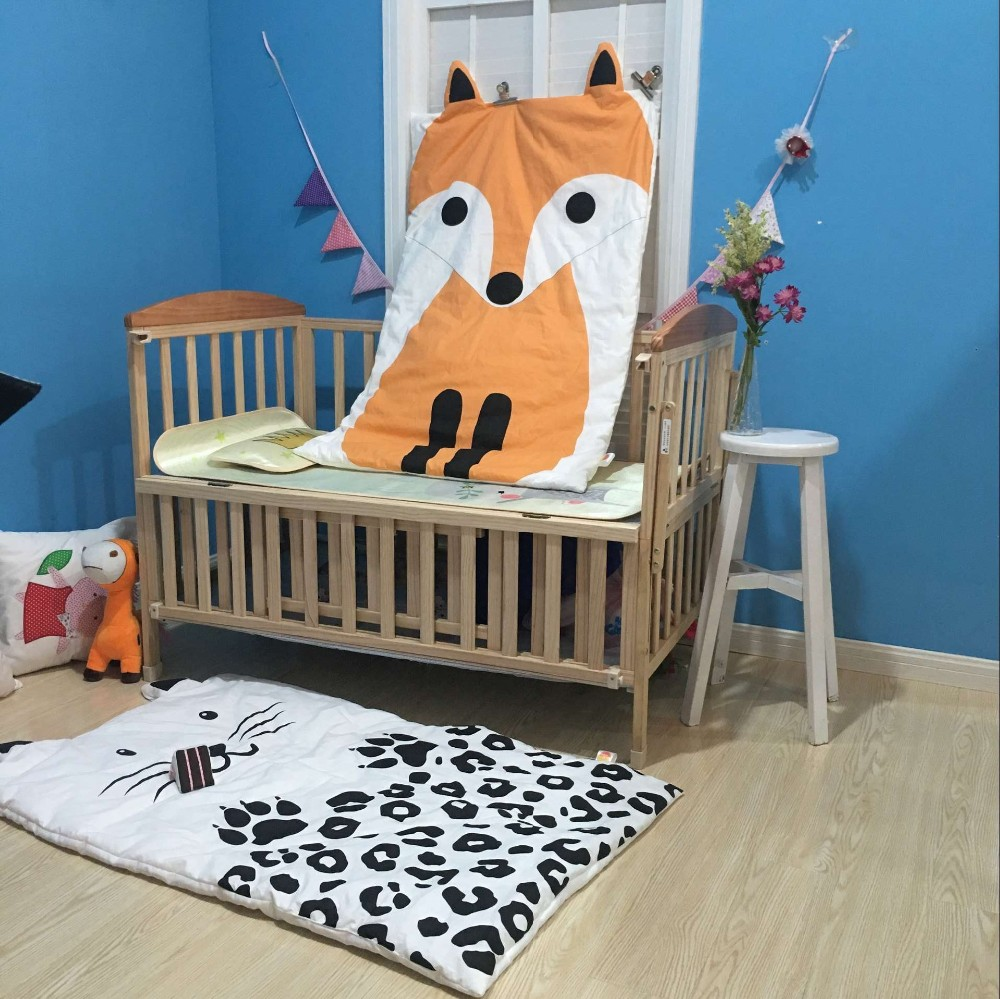 New Newborn Baby Blanket Cotton Bedding Animal Print Swaddling Kids Summer Quilt Infant Rug Floor Playing Carpet Mats
