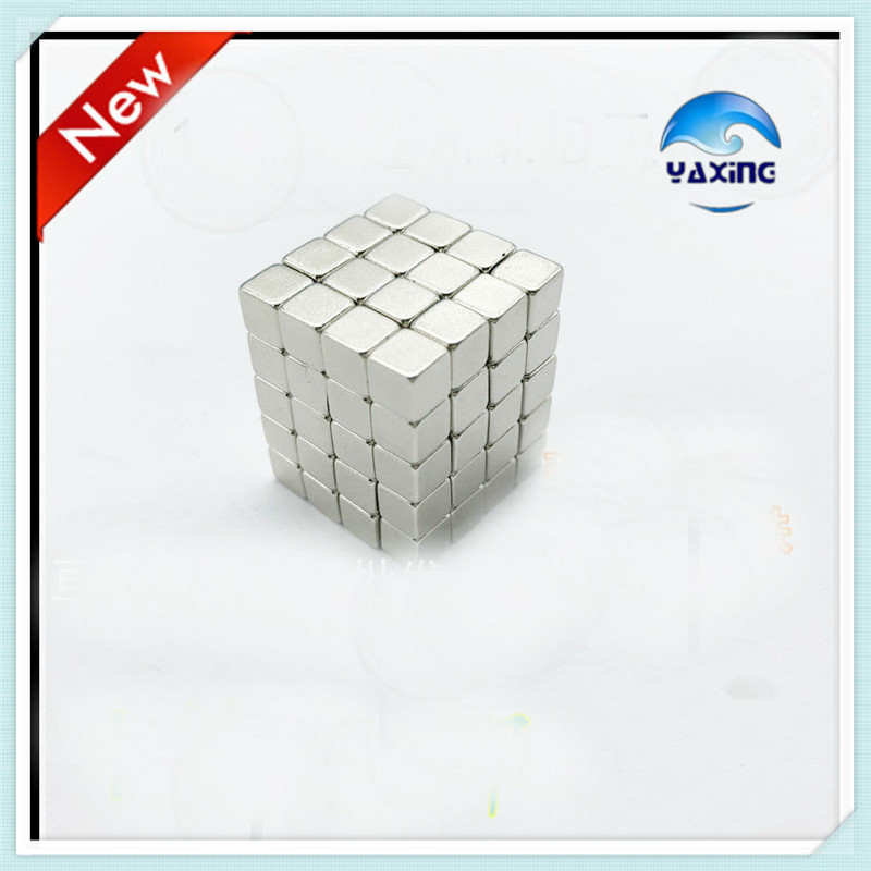 50PCS N35 5 x 5x 5mm Super Strong Rare Earth Permanet cube Magnet Powerful Neodymium Magnet 5*5*5mm 5 x 5mm cylindrical ndfeb magnet silver 30 pcs