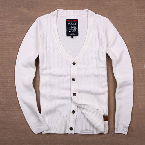 Men's clothing wholesale sweater big code Cardigans Full V Neck ...