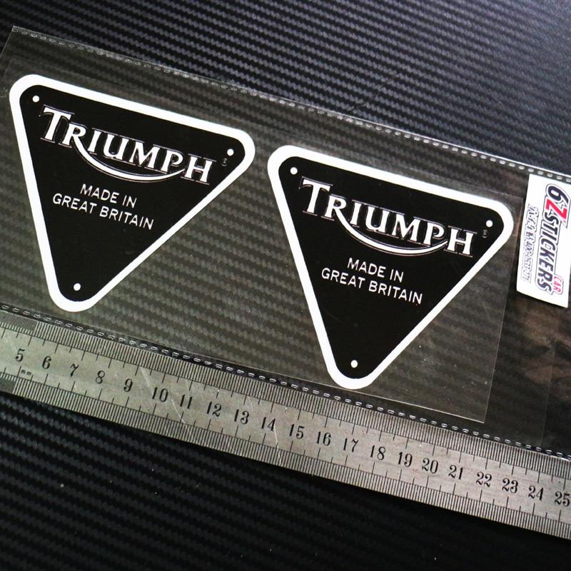 Zstickers PCS Triumph Bonneville Custom Motorcycle Helmet Badge - Triumph motorcycle custom stickers decals