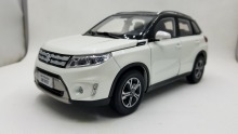 1:18 Diecast Model for Suzuki Vitara 2016 White SUV Alloy Toy Car Miniature Collection Gifts Gran цена и фото