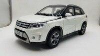 1:18 Diecast Model for Suzuki Vitara 2016 White SUV Alloy Toy Car Miniature Collection Gifts Gran