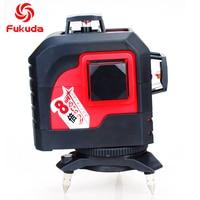 Fukuda 12 Lines Laser Level 3D Green Nivel Laser Construction Tools