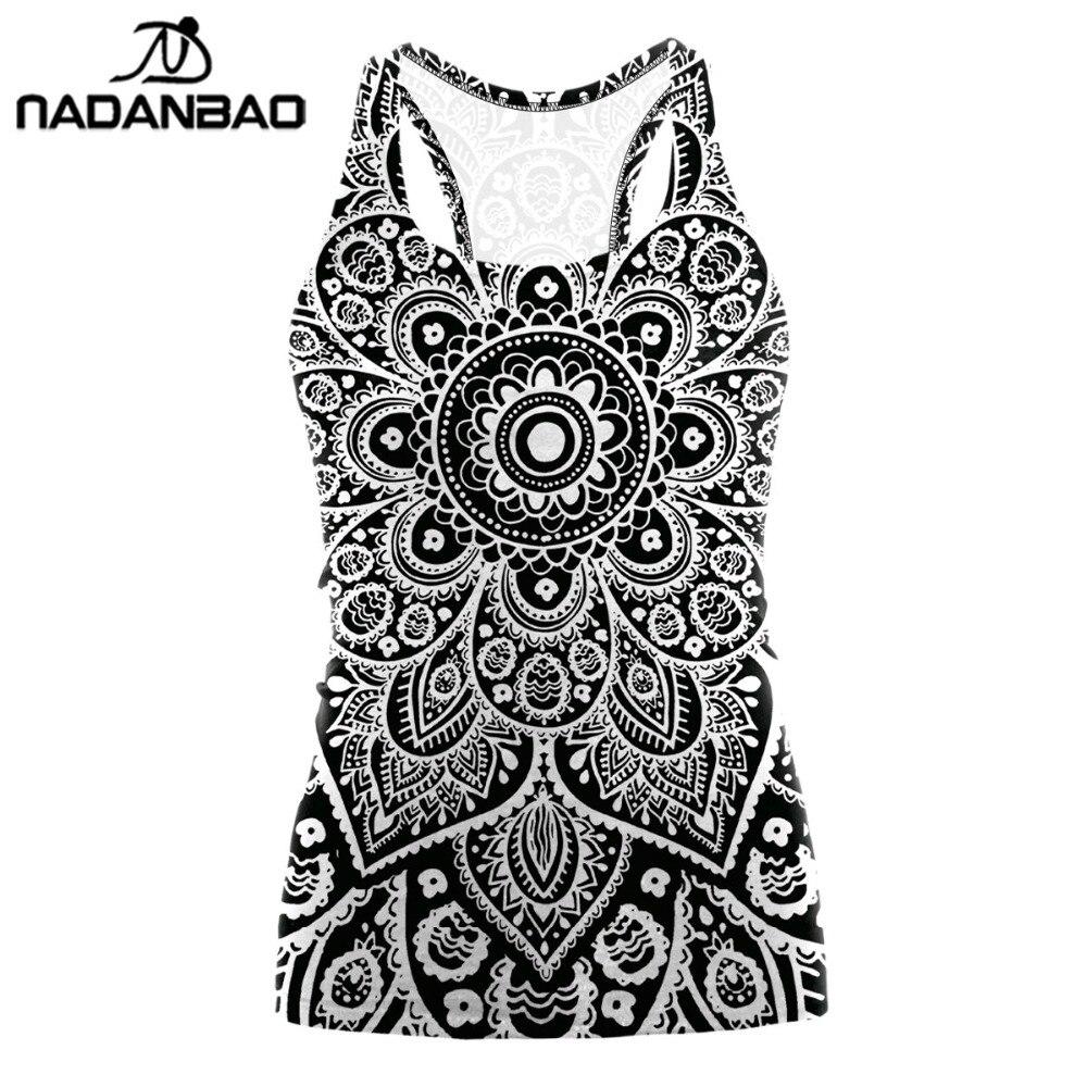 100% Wahr Nadanbao 2019 Digitaldruck Mandala Tank Top T-shirt Aztec Runde Ombre Oansatz Sleeveless Plus Größe Tops T Shirt Frauen Seien Sie In Geldangelegenheiten Schlau