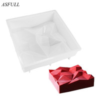 ASFULL Triangulation 3d Cake Molds For Ice Cream Chocolates Cake Mold Pan Bakeware Accessories Geometric Shapes
