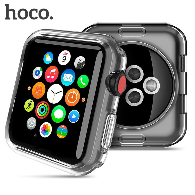 HOCO Shell for Apple Watch Series 3 2 Soft Transparent Case Ultra Thin Clear Protective Cover Protection Smart Watch Bumper ultra thin protective silicone bumper frame for iphone 5 red black